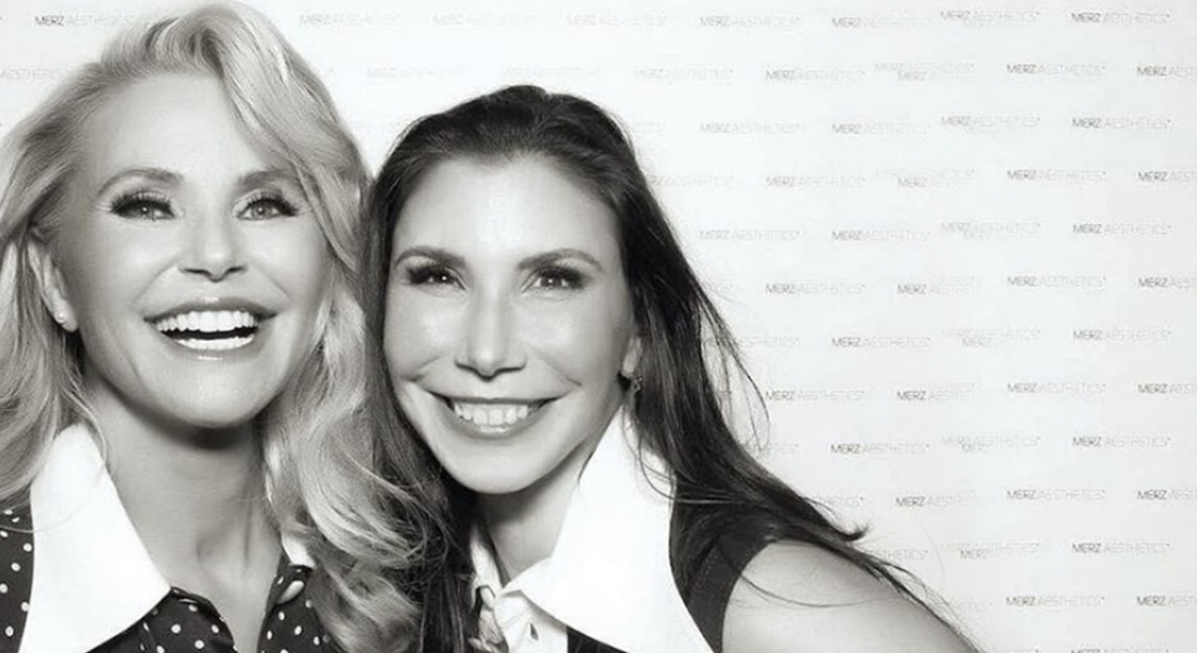 Dr. Levine with Christie Brinkley at an Ultherapy event